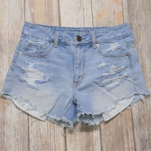 American Eagle Distressed Jean Shorts Size 2